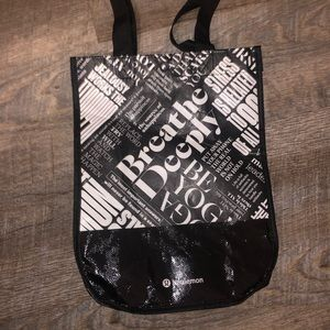 Lululemon Shopping Tote Bag with Button Close